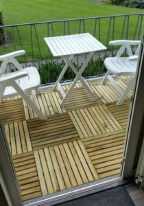 houten tuintegels
